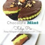 Chocolate Mint Fudge Pie (Raw/Vegan)