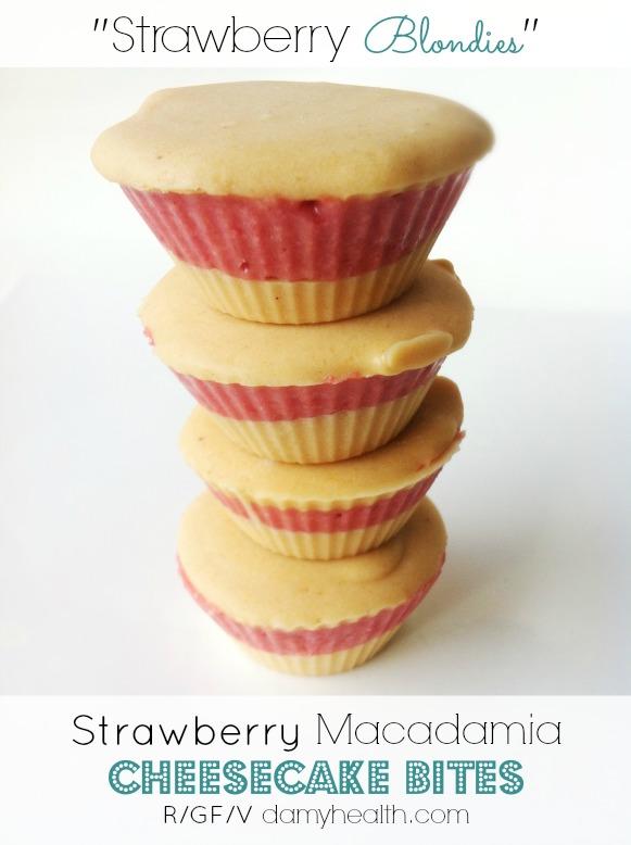 Strawberry Macadamia Cheesecake Bites