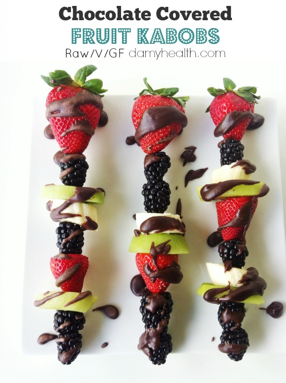 Chocolate Covered Fruit Kabobs