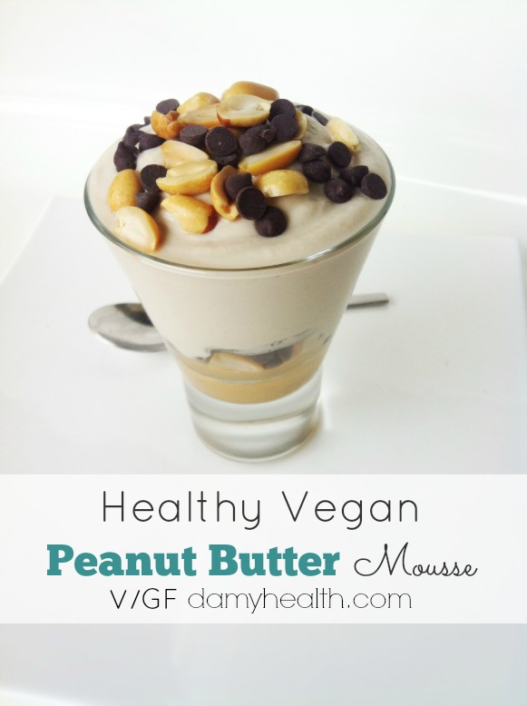 Whipped coconut cream Vegan Peanut Butter Mousse1