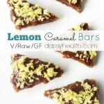 Lemon Caramel Bars (Raw/Vegan)