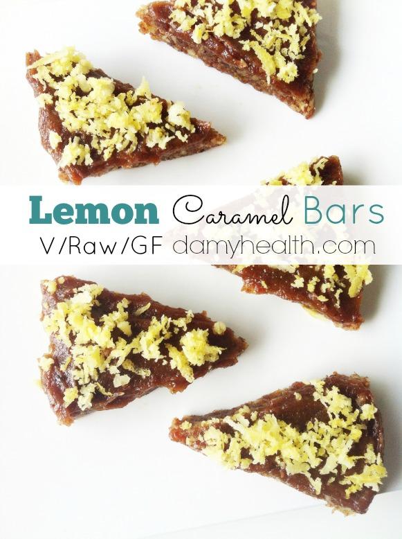 raw vegan lemon caramel bars1