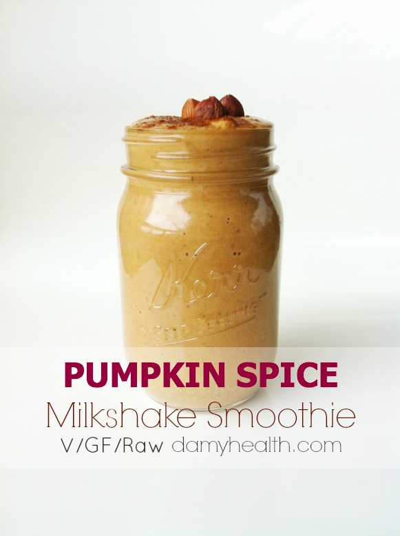 Healthy Pumpkin Spice Milkshake Smoothie1
