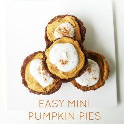 Healthy Mini Pumpkin Pie