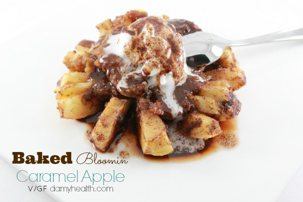 Baked Bloomin' Caramel Apple