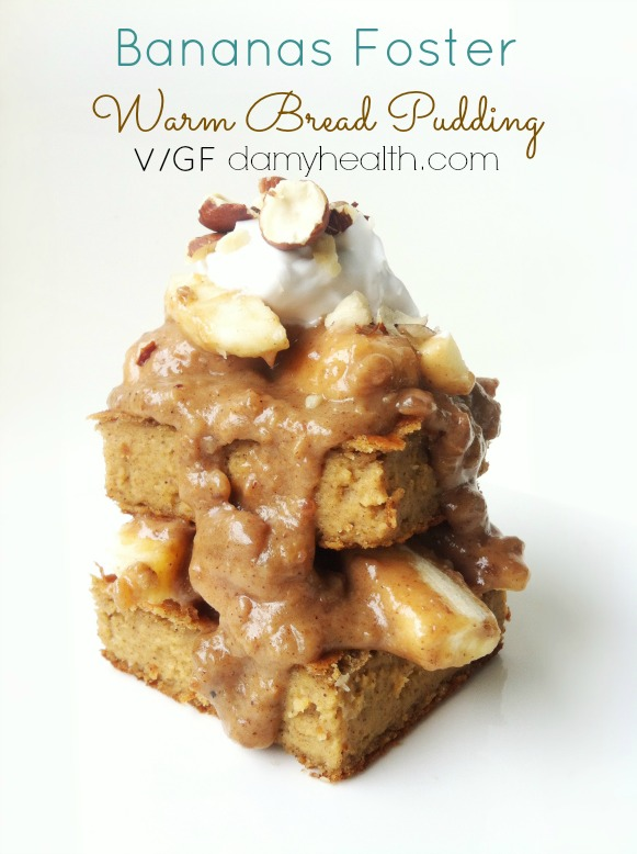 Bananas Foster Warm Bread Pudding Vegan1