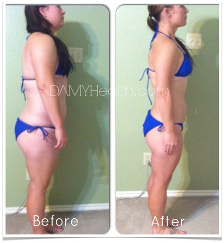 Crystals Bikini Body Weight Loss Success Side