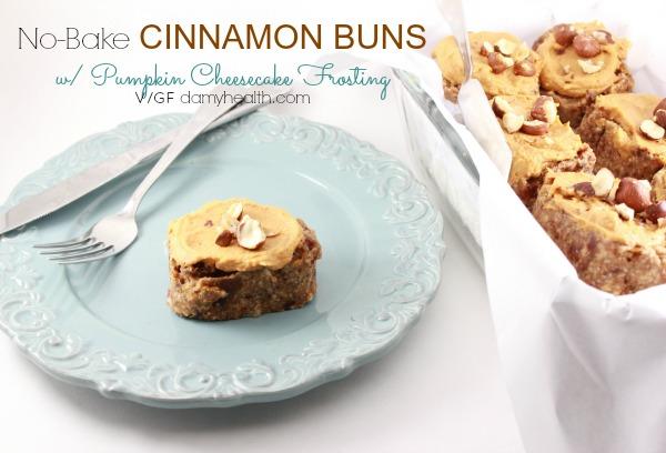 No Bake Cinnamon Buns with Pumpkin