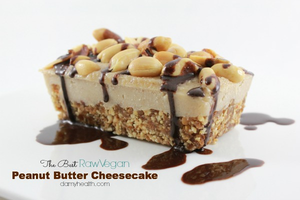 The best Raw Vegan peanut butter cheesecake1