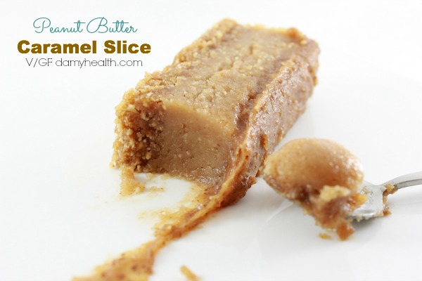 healthy peanut butter caramel slice1