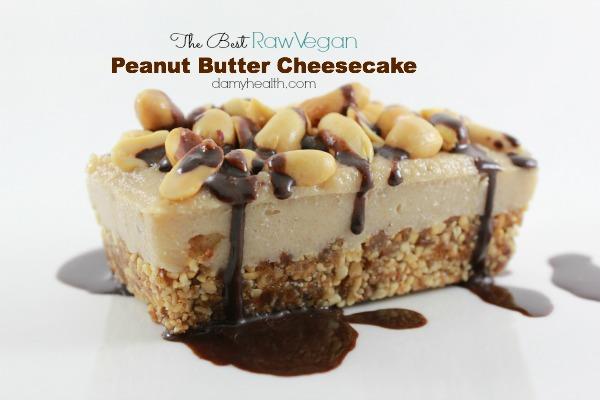 The Best Raw Vegan Peanut Butter Cheesecake