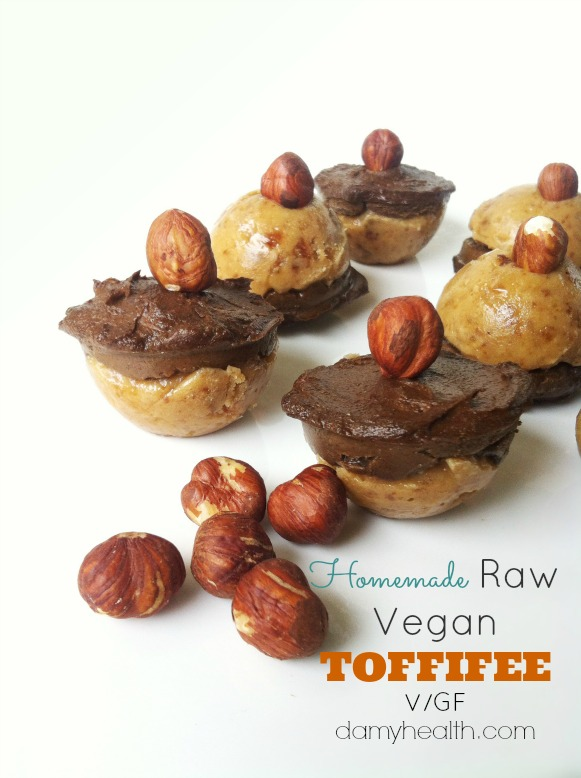 Homemade Raw Vegan TOFFIFEE