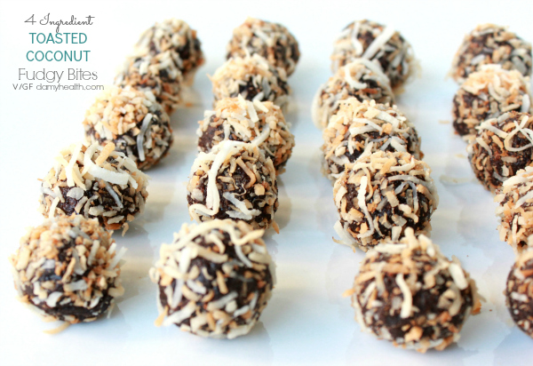 Fudgy Coconut Chocolate Bites
