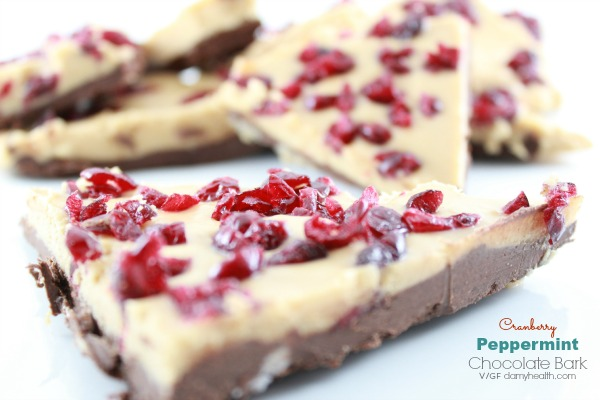 Cranberry Peppermint Chocolate Bark