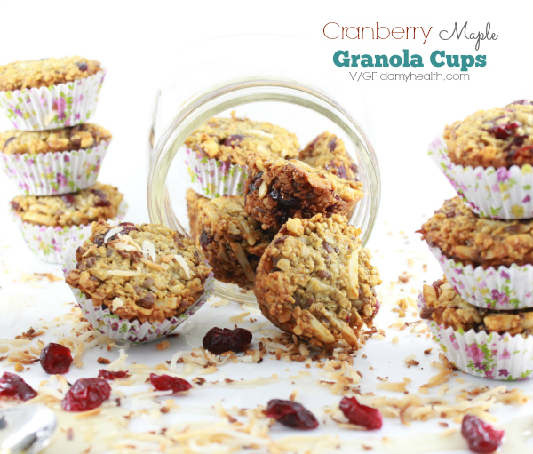 cranberry healthy granola cups