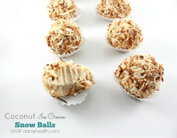 Coconut Ice Cream Snow Balls