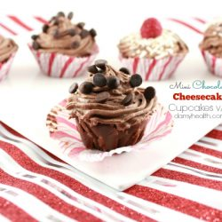 mini chocolate cheesecake cupcakes1
