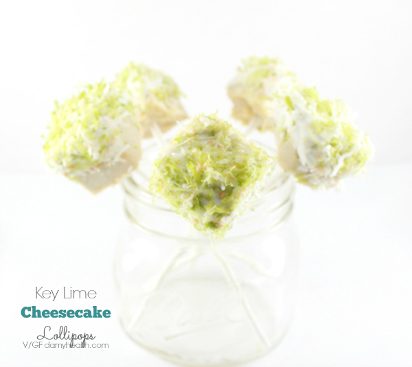 Key Lime Cheesecake Lollipops