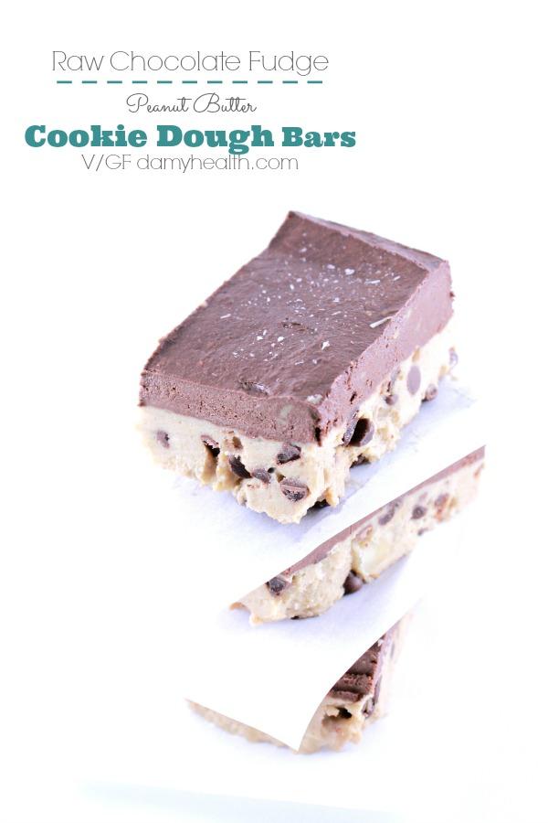 Chocolate Fudge Peanut Butter Cookie Dough Bars1