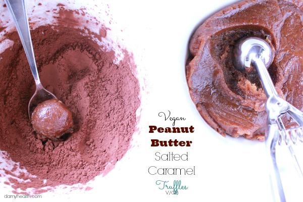 Vegan Peanut Butter Salted CaramelTruffles
