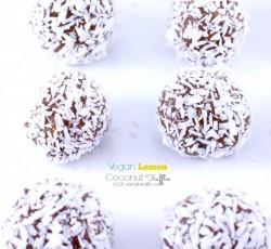 vegan lemon coconut truffles