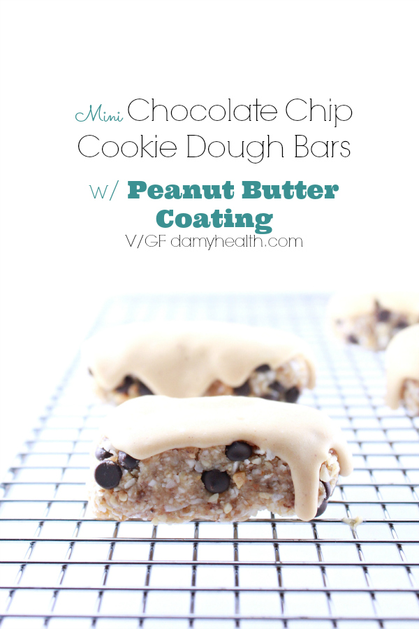 Mini Chocolate Chip Cookie Dough Bars