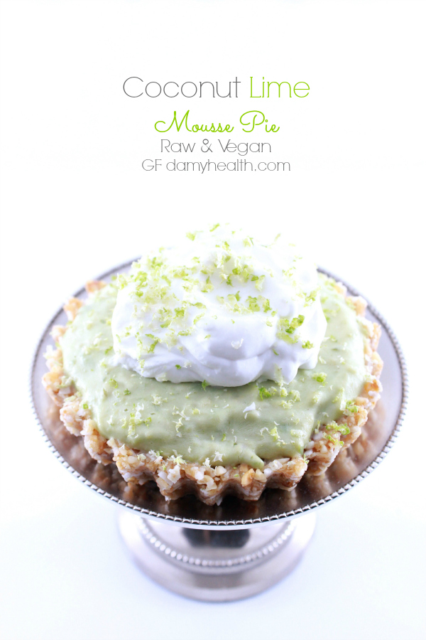 Coconut Lime Mousse Pie (Raw/Vegan)