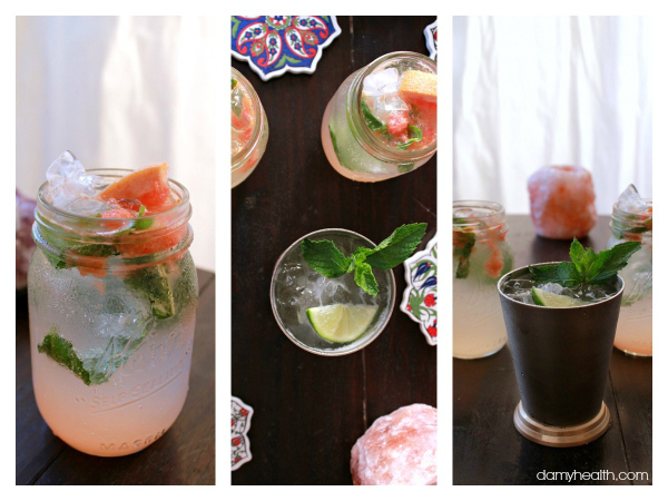 Sparkling Grapefruit & Basil Cocktail (All Natural & No Added Sugar)