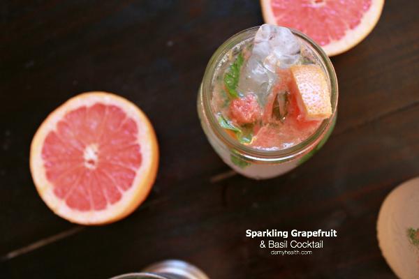 Sparkling Grapefruit & Basil Cocktail