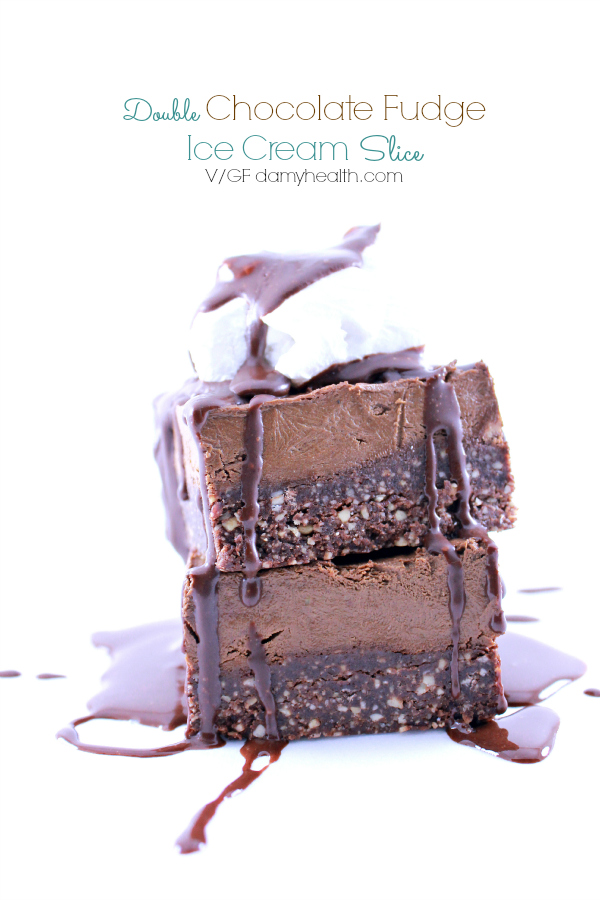 Double Chocolate Fudge Ice Cream Slice
