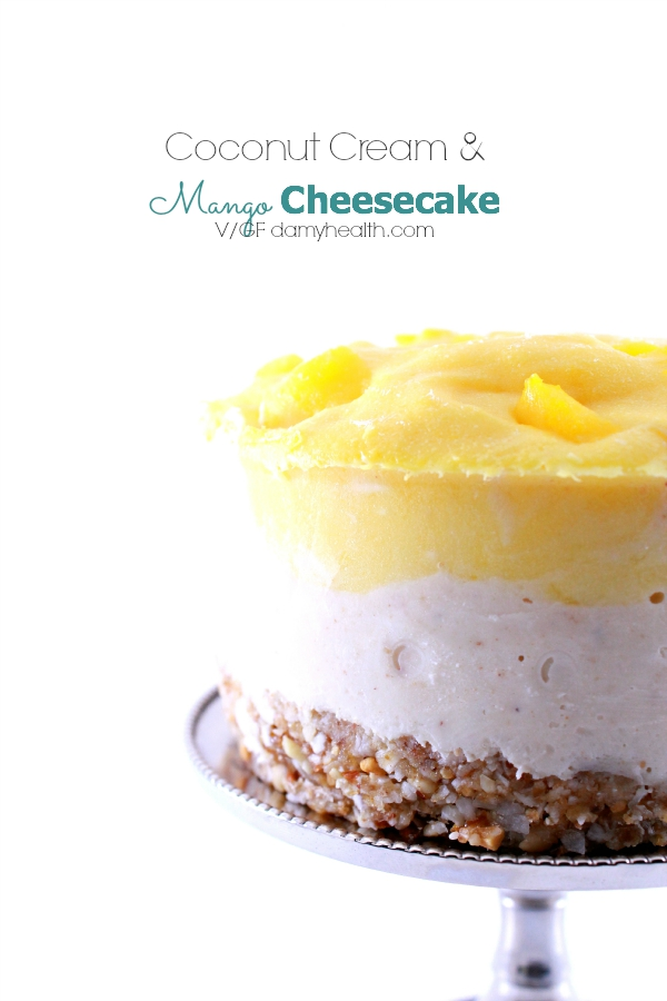 Coconut Cream & Mango Cheesecake