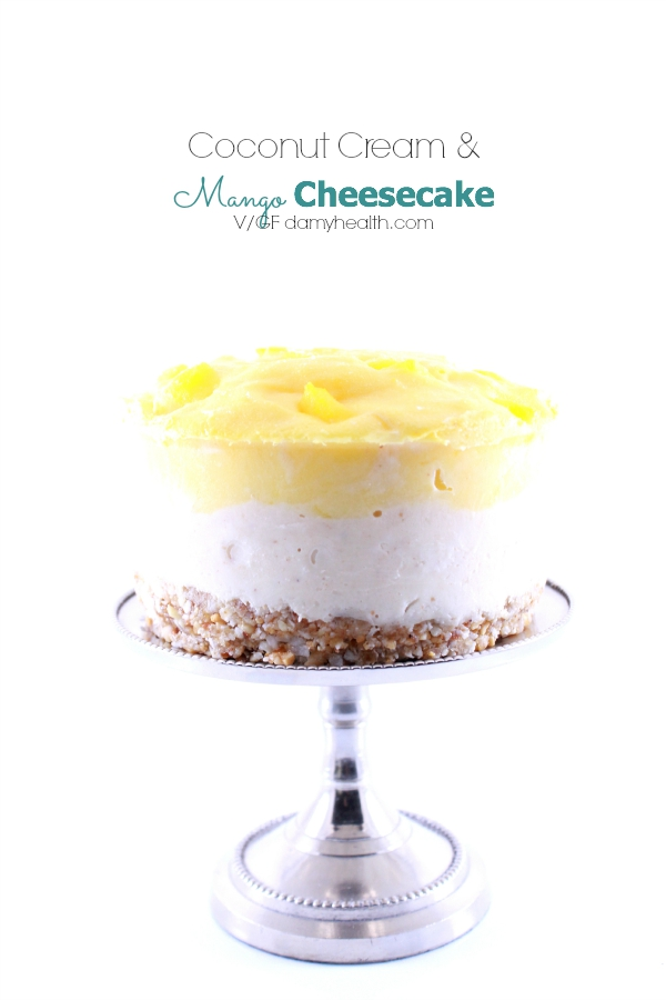 Coconut Cream & Mango Cheesecake (Raw/Vegan)