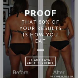 proof that 80 percent of your results is how you eat