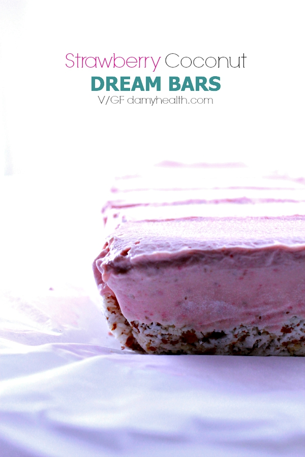 Strawberry Coconut Dream Bars Vegan