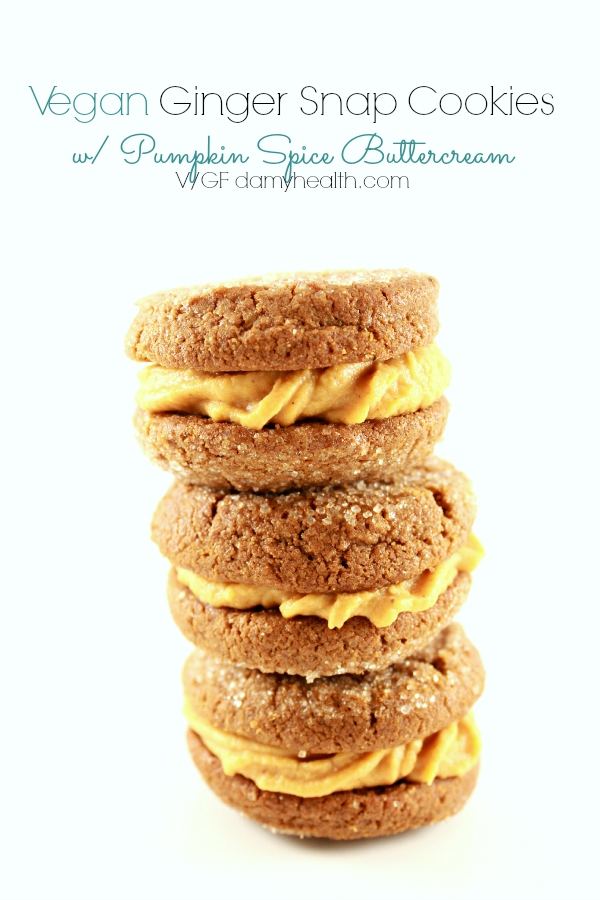 Vegan Ginger Snap Cookies with Pumpkin Spice Buttercream