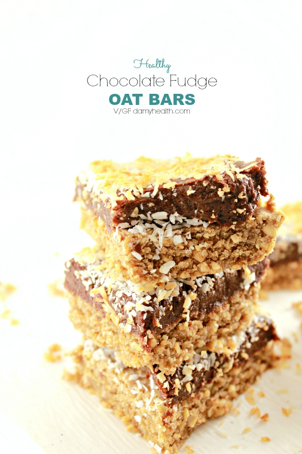 Healthy Chocolate Fudge OAT BARS
