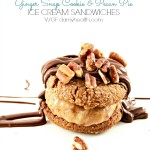 Ginger Snap Cookie & Pecan Pie Ice Cream Sandwiches