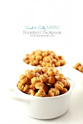 Sweet and Salty Roasted Maple Chickpeas