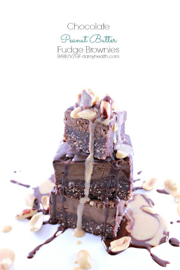 Chocolate Peanut Butter Fudge Brownies