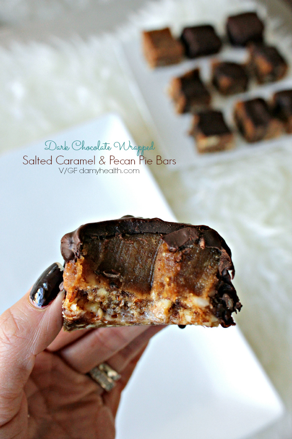 Chocolate  Salted Caramel Pecan Pie bites