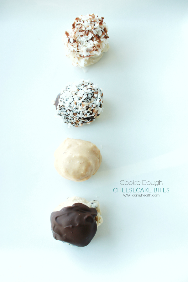 Cookie Dough Cheesecakebites