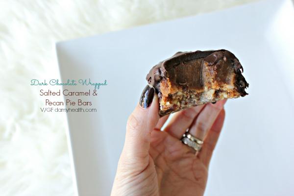 Dark Chocolate wrapped Salted Caramel Pecan Pie bites