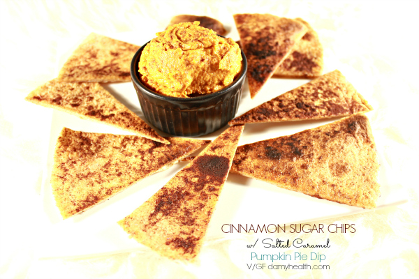 Cinnamon Sugar Chips with Salted Caramel Pumpkin Pie Dip