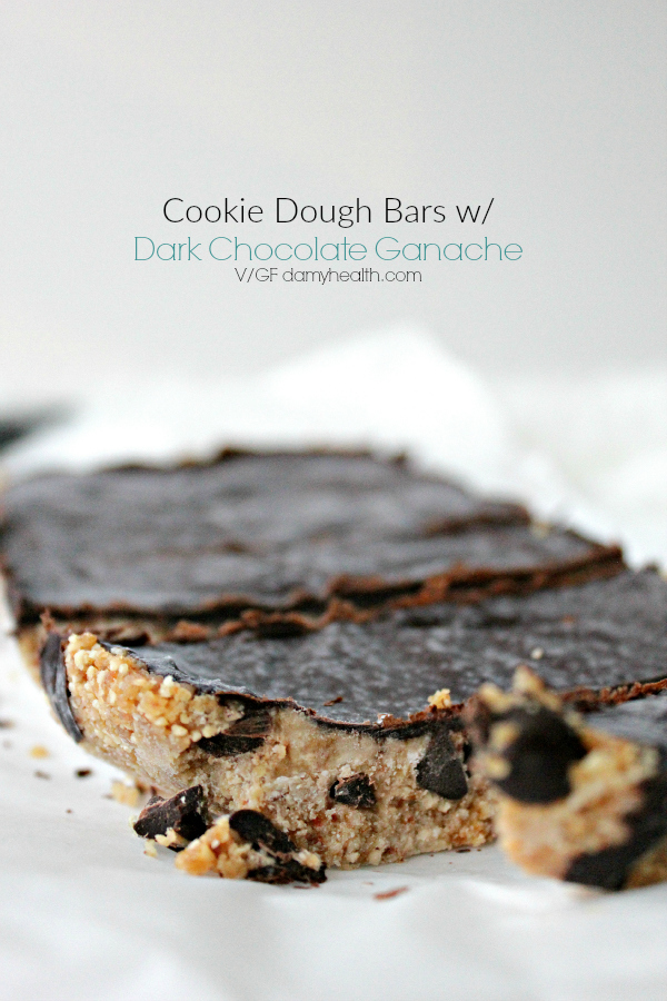 Cookie Dough Bars with Dark Chocolate Ganache