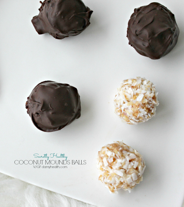 Secretly Healthy Coconut Mounds Balls