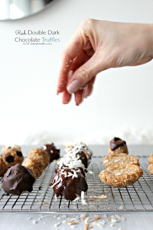 Rich Double Dark Chocolate Truffles