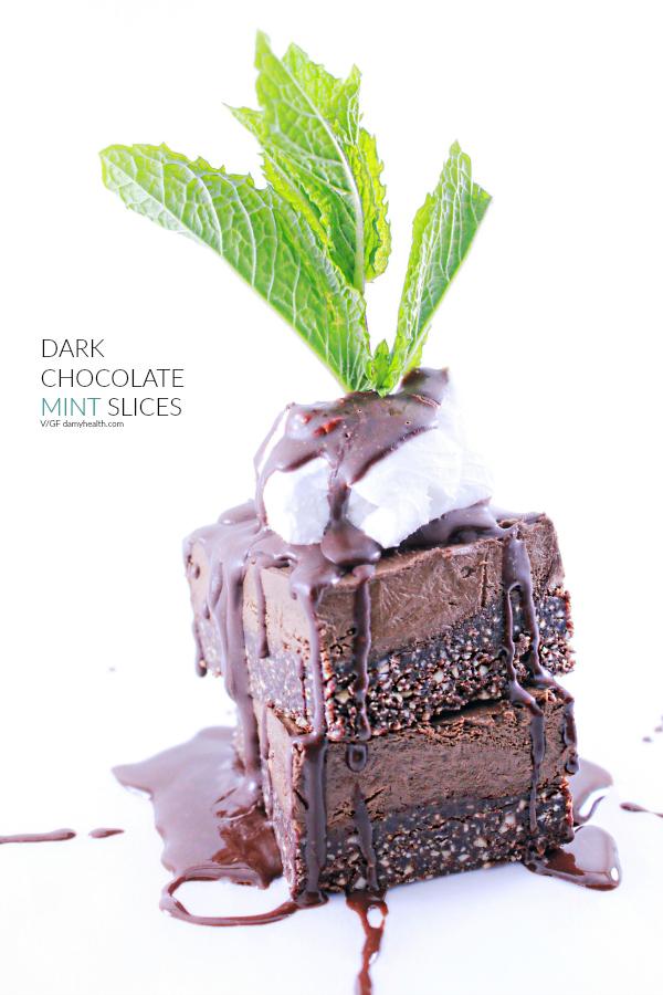 Dark Chocolate Mint Slices