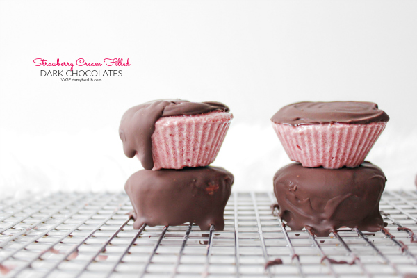 Strawberry Cream Filled Dark Chocolates