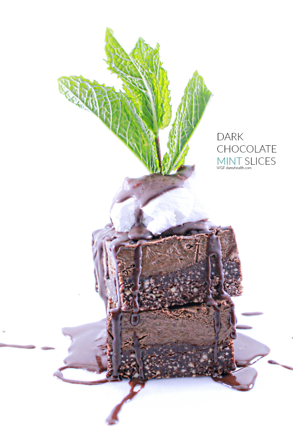 DARK CHOCOLATE MINT SLICES