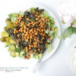 Vegan Caesar Salad with Crunchy Sriracha Kale & Fried Chickpeas